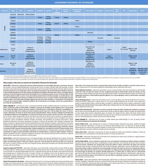 calwndario de vacina calend 225 rio de vacina 2016 mudan 231 as na rede p 250 blica seu
