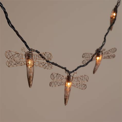 Dragonfly String Lights Outdoor Copper Dragonfly 10 Bulb String Lights World Market