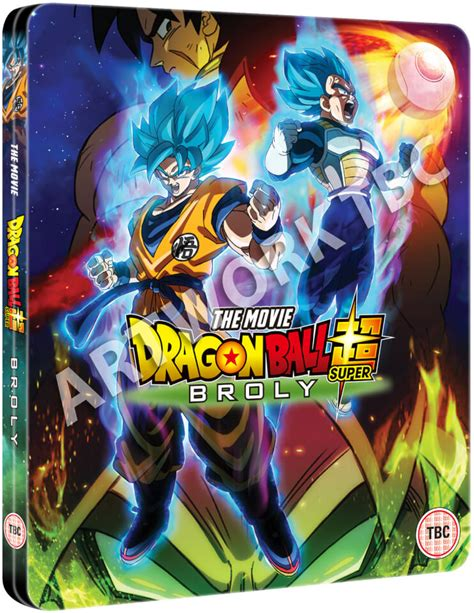dragon ball super broly steelbook blu ray zavvi