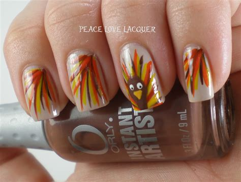 thanksgiving nail art peace love lacquer thanksgiving nail art challenge day 5