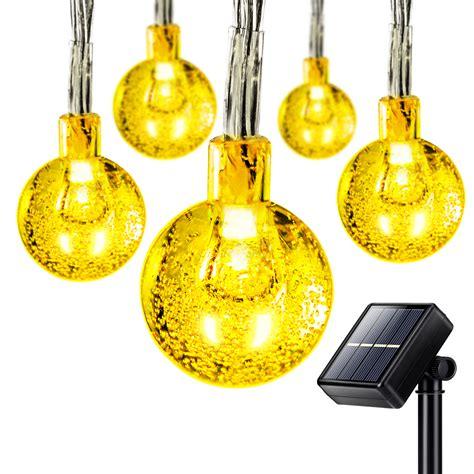 globe solar string lights 50 led solar outdoor string lights globe string