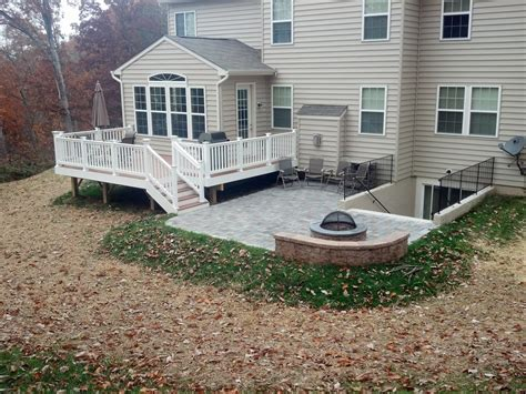 Deck And Patio Designs Maryland Deck Builders The Deck Fence Company Combination Projects Maryland Deck