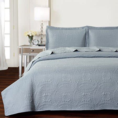 Best Quality Bedding Sets Mellanni Bedspread Coverlet Set Gray Best Quality Comforter Oversized 3 Quilt Set