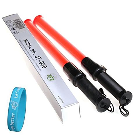 Lu Sepeda Waterproof Silicone 2 Pcs Led Merah zfe traffic safety light baton warning led light road safety outdoor pack of 2pcs come