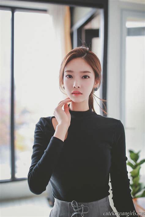 top korean jung yun black top and skirt korean