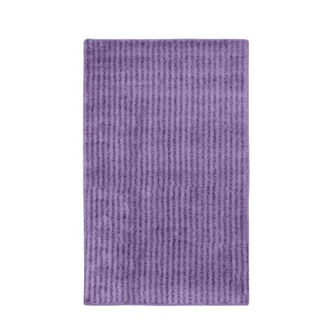 Accent Rugs For Bathroom Garland Rug Purple 30 In X 50 In Washable Bathroom Accent Rug She 3050 09 The Home