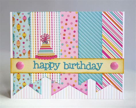 how to make a cool birthday card out of paper snippets by mendi some more doodlebug sugar shoppe