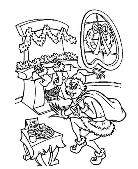 free printable coloring pages grinch stole grinch coloring pages bestofcoloring