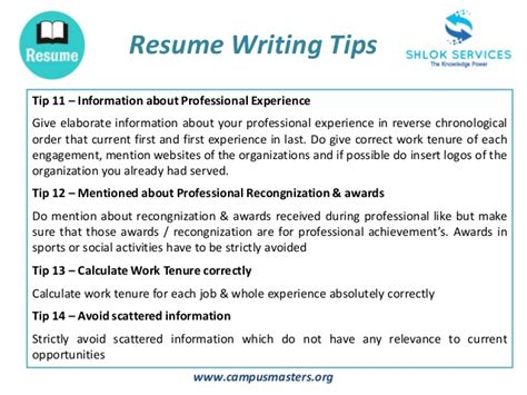 Tips For Resume Writing by Resume Writing Tips