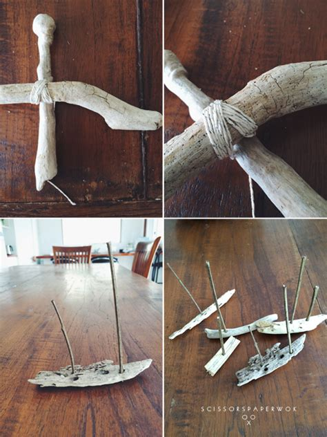 Wood Used To Make Paper - diy driftwood sailboat mobile scissors paper wok
