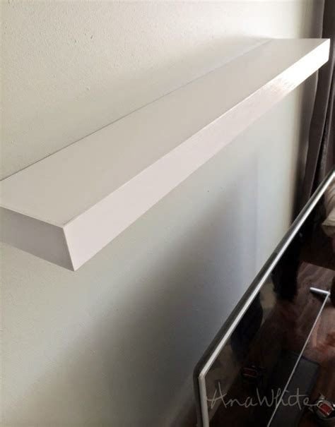 ana white a letter shelf diy projects ana white build a modern floating shelf free and easy