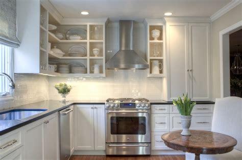 white shaker cabinets transitional kitchen allison