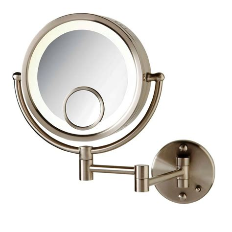 lighted wall lighted wall mount magnifying makeup mirror neuro ticcom