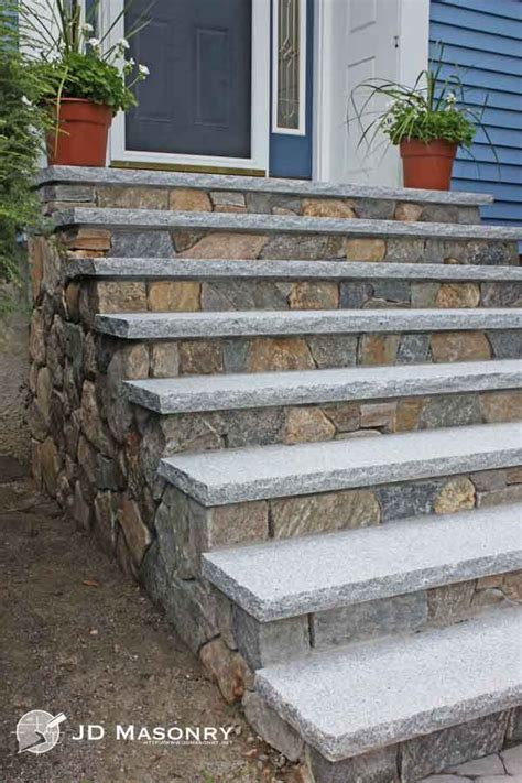 bluestone brick front entrance steps masonry patios jd masonry stone granite steps front steps pinterest