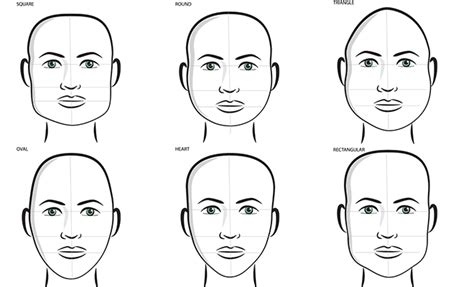 exles of different face shapes for men how to tell the shape of your face kamdora