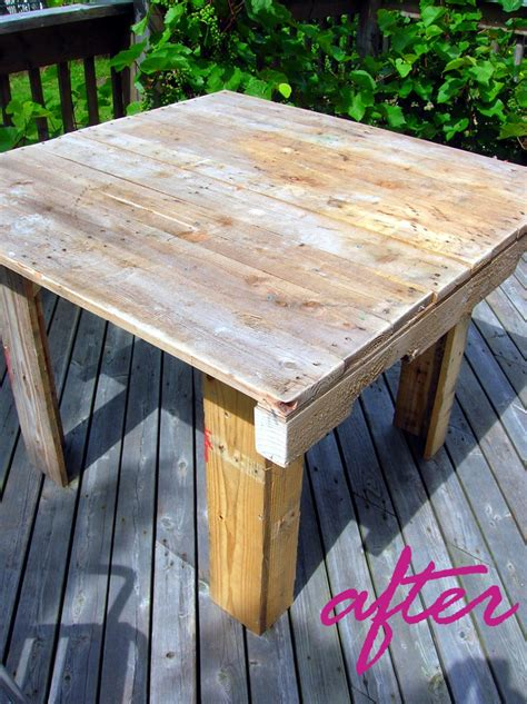 how to make a table out of pallets how to make a pallet table movita beaucoup