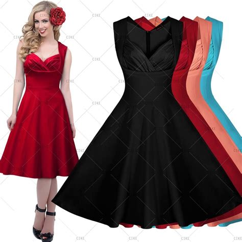1950 s swing dresses women vintage 1950 s cocktail party sexy rockabilly v neck
