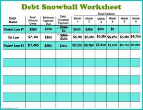 debt sheet template 11 free budget printables to help get your money