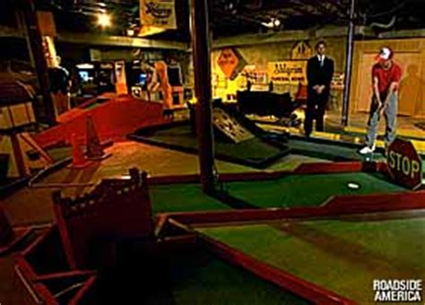 miniature golf in a funeral home palatine illinois
