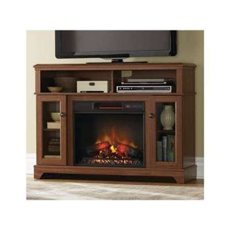 home depot media fireplace home decorators collection ravensdale 48 in media console