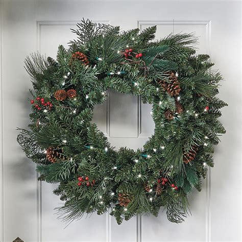 classic pre lit christmas wreath christmas decor