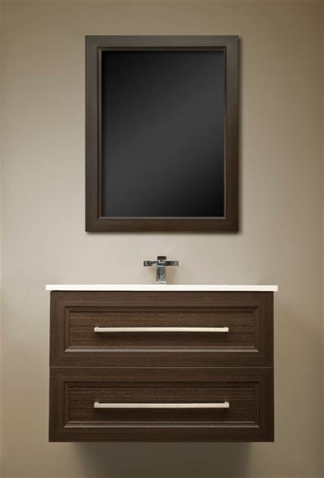 floating vanities  london ontario modern powder room toronto  visionary kitchens