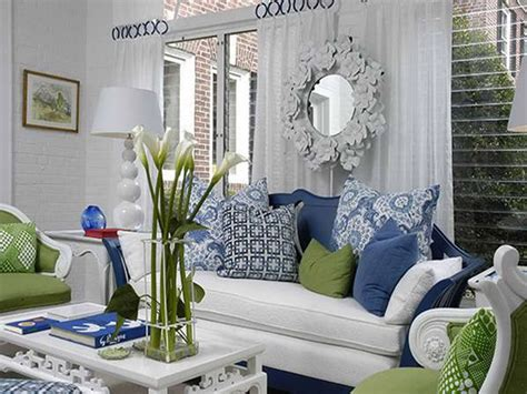 blue and green living rooms decoration decorative chair cushions green blue paint