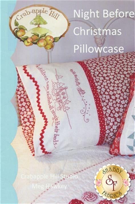 night before christmas pillowcase pattern