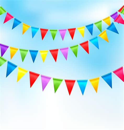 Sale Bunting Flag Hbd Colorful 10 metre rainbow bunting flag decorations