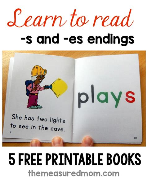words and your books free phonics books for words with plural endings the