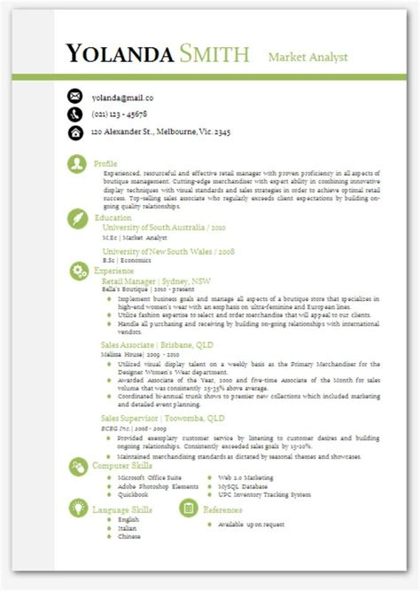 ms word modern resume templates resume format modern resume templates