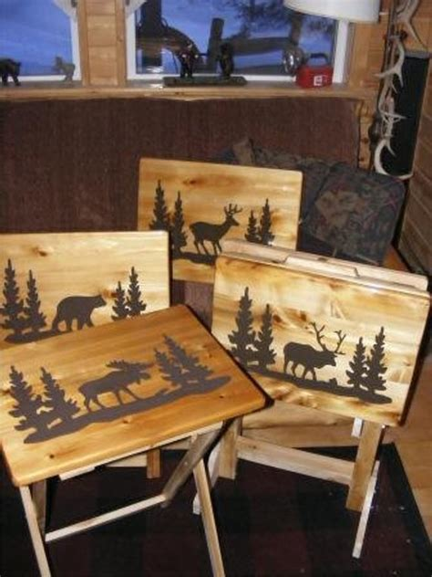 rustic tv tray tables unavailable listing on etsy