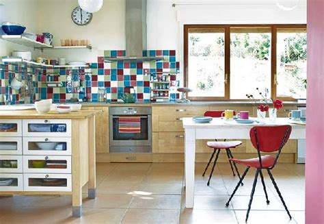 retro kitchen ideas colorful vintage kitchen designs