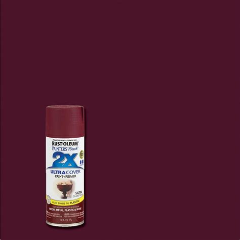rust oleum painter s touch 2x 12 oz satin claret wine general purpose spray paint of 6