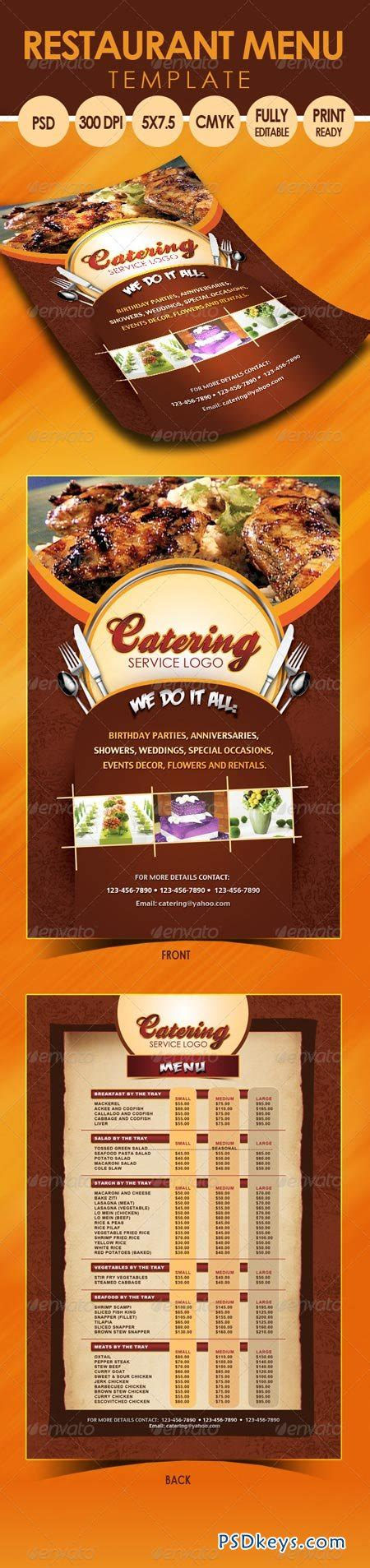 template flyer menu catering menu template flyer 3318145 187 free download