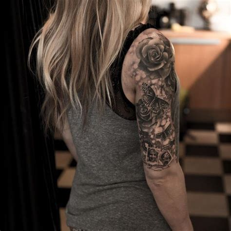 quarter sleeve shoulder tattoo quarter sleeve tattoo ideas for men and women