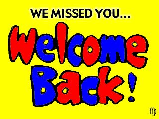 Welcome Back Gif Images