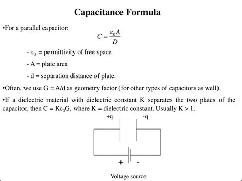 capacitor definition and formula capacitors formulas 28 images resources introduction to electricity presentation capacitor