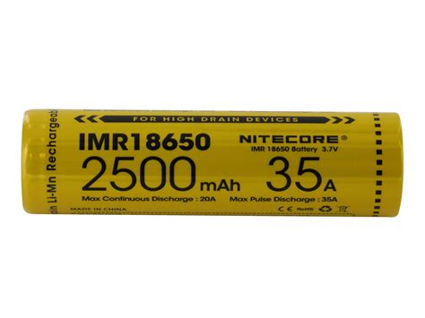 Nitecore Imr18650 Baterai Vape 2500mah 35a 3 7v Murah nitecore imr 18650 2500mah 3 7v unprotected high drain 35a
