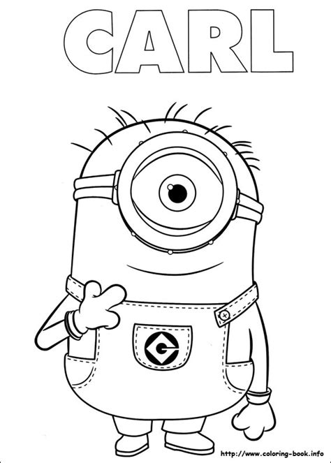 minions kevin coloring pages kevin the minion and laser gun in despicable me coloring
