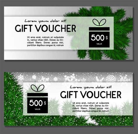 new year gift voucher new year gift voucher template vectors set 02 vector