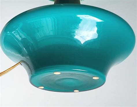 Turquoise Glass Table L scandinavian turquoise glass table l 1970s for sale at