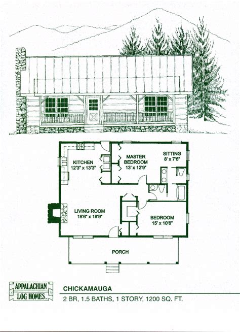 1 Floor 1200 Sq Ft Cabin - chickamauga 2 bed 1 5 bath 1 story 1200 sq ft