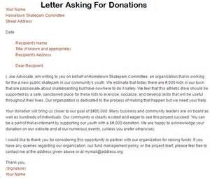 Writing Business Letter Asking For Donations letters asking for donations letter asking for donations writing