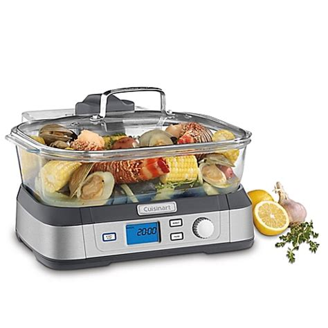 bed bath and beyond food steamer cuisinart cookfresh digital glass steamer in stainless