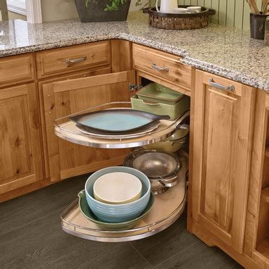 lazy susan corner kitchen cabinet pictures to pin on base blind corner with chrome swing outs kraftmaid