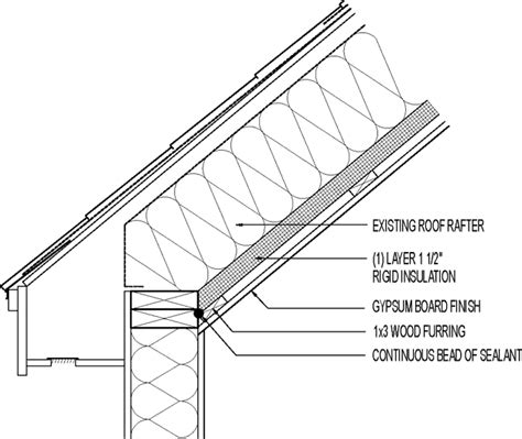 Vaulted Ceiling Construction Details by Interior Roof Insulation Retrofit For Cathedral Ceiling