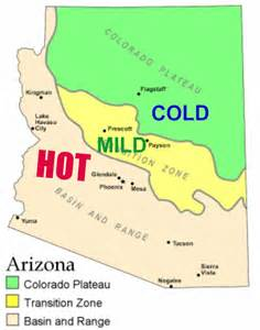 arizona regions map an fashioned world where i live