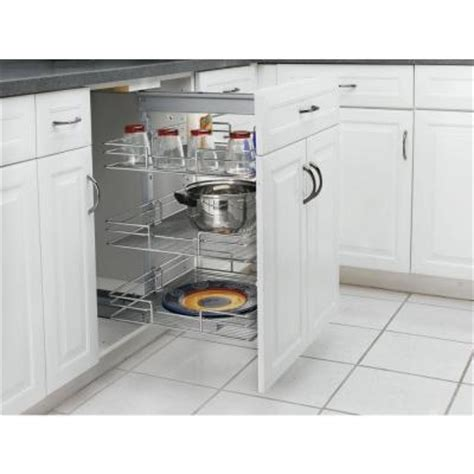pull out pantry shelves home depot rev a shelf premiere 14 3 4 in width short pull out