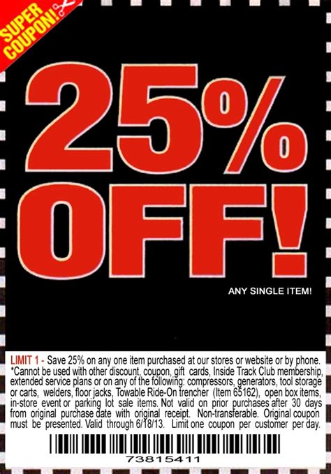 harbor freight boat trailer coupon harbor freight 25 off printable coupon diy trailers